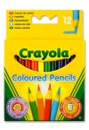 * CRAYOLA BOX 12 1/2 SIZE COLOURING PENCILS