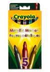 * CRAYOLA PKT 5 METALLIC MARKERS