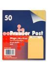 PACKET OF 50 WAGE Peel & Seal ENVELOPES - PLAIN