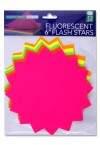 "PREMIER DEPOT PACKET OF 12 6"" FLUORESCENT STARS"