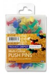 PREMIER DEPOT PACKET OF 50 COLOURED PUSH PINS