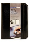PREMIER DEPOT iPAD LEATHER ZIP-UP WALLET W/LEGAL PAD