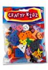 CRAFTY KIDZ SMALL PLASTIC BUTTONS - ASST