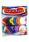 CRAFTY KIDZ LARGE PLASTIC BUTTONS