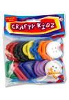 CRAFTY KIDZ LARGE PLASTIC BUTTONS