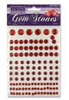 ICON CRAFT PACKET OF 120 SELF ADHESIVE GEM STONES - RED
