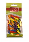 ICON CRAFT PACKET OF 50 MINI CLOTHES PEGS - COLOR