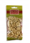 ICON CRAFT PACKET OF 70 WOODEN BUTTONS - NATURAL