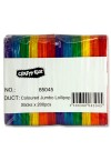 CRAFTY KIDZ BAG 200 JUMBO LOLLIPOP STICKS - COLOURED