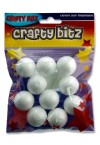 CRAFTY BITZ PACKET OF 10 POLYSTYRENE BALLS - 3cm