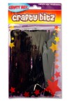 CRAFTY BITZ PACKET OF 50 PIPE CLEANERS - BLACK