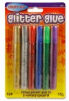 CRAFTY BITZ CARD 6x15g GLITTER GLUE