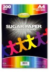 WOC A4 SUGAR PAPER 200 SHEETS - COLOURED