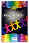 WOC A2 SUGAR PAPER 50 SHEETS - COLOURED