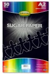 WOC A2 SUGAR PAPER 50 SHEETS - BLACK