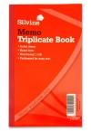 "SILVINE 8""x5"" MEMO TRIPLICATE BOOK"