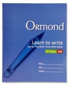 ORMOND 20x16 40pg J09 JUNIOR COPY BOOK