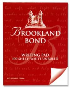 BROOKLAND BOND  LETTER WRITING PAD 100 SHEET WHITE UNRULED