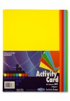 PREMIER A4 160gsm ACTIVITY CARD 50 SHEETS - RAINBOW