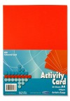 PREMIER A4 160gsm ACTIVITY CARD 50 SHEETS - RED