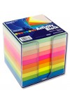 PREMIER 90x90mm ACTIVITY BLOCK PP BOX - RAINBOW (810)