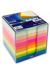 PREMIER 90x90mm ACTIVITY BLOCK PP BOX - RAINBOW (810)