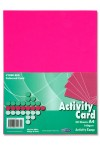 PREMIER A4 160gsm ACTIVITY CARD 50 SHEETS - CYBER RED