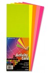"PREMIER 4""x12"" ACTIVITY CARD 50 SHEETS - FLOURESCENT"