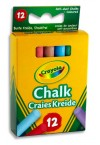 CRAYOLA BOX 12 ANTI-DUST CHALK - COLOURED