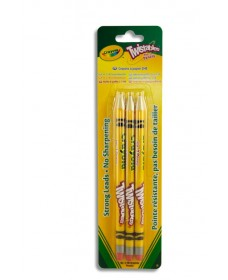 CRAYOLA TWISTABLES 3 No.2 GRAPHITE PENCILS